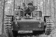 Finnish crew in a captured Soviet-made T-28
