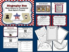 Biography Box Project- Black History Month and Presidents Day product from Lucky-In-Learning on TeachersNotebook.com Book Report Projects, Class Projects, School Projects, School Ideas, Biography Project, Presidential History, School Carnival, Reading Workshop, Presidents Day