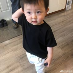 """""""actually its chanyeol copying baby choochoo not the other way around. my heart is so full. Cute Baby Boy, Cute Little Baby, Little Babies, Cute Babies, Korean Babies, Asian Babies, Asian Kids, Chanyeol Wallpaper, Chanbaek"""