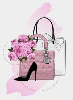 Fashion Artwork, Fashion Wall Art, Chanel Art, Shirt Designs, Flower Phone Wallpaper, Cartoon Girl Drawing, Luxury Logo, Decoupage Vintage, Barbie Princess