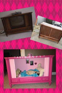 repurpose furniture dog. an old tv cabinet converted into a dog bed tvdog furniturerepurposed repurpose furniture p