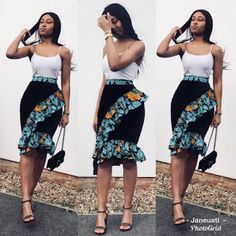 2019 African Skirts That Will Have You Dressed Perfectly for Any Occasion - Zain. By Diyanu Source by plussizediyanu Latest African Fashion Dresses, African Dresses For Women, African Print Fashion, African Attire, African Print Dress Designs, African Print Skirt, Afro, Skirt Fashion, Casual