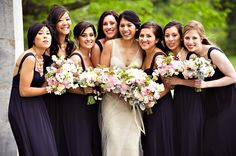 Love the bunching of the boquets!