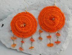 Hippie crochet earrings  Long earrings  Crochet by lindapaula, €9.00