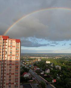 Пару часов назад у нас в Самаре была радуга.  #photographer #photo #city #sky #rainbow #фотографвсамаре