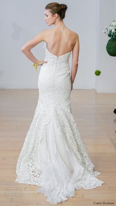 carol hannah 2017 bridal straples sweetheart neckline full embellishment elegant trumpet mermaid wedding dress sweep train (calytrix) bv