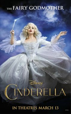 Walt Disney Studios' Cinderella - The Fairy Godmother as played by Helena Bonham Carter on the 2015 live action movie poster.
