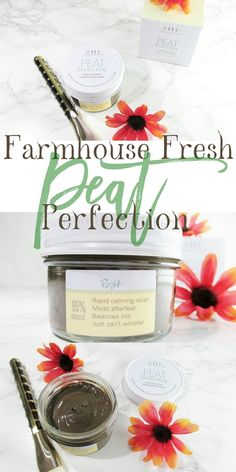 A Spa Day in a Jar for My Face | Farmhouse Fresh Peat Perfection Enriched Peat Purification Mask  *prsample