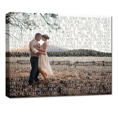 Gifts for Couples/  First Dance Lyrics/ Custom Canvas / Your