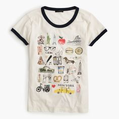 "The J.Crew Valentine's Day Shop: women's ""New York"" destination art T-shirt."