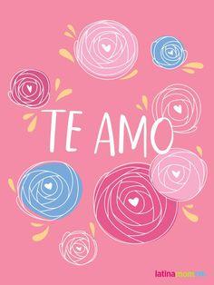 Shareable Bilingual Valentines - Te amo (I love you)