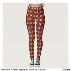 Christmas Flower Leggings