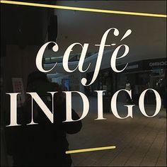 Cafe Indigo Bookstore Entry Sign Invitation – Fixtures Close Up