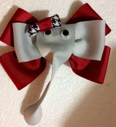 Brand new custom made boutique  Bama Baby hairbow with ELEPHANT 4.5' Inches