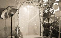 Décoration de mariage - Espace photos Photobooth rideau lumière