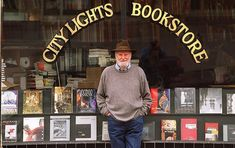 """City Light Bookstore, North Beach district, San Francisco, home of the """"Beat Generation"""" Allen Ginsberg, Jack Kerouac, Mini Moon Ideas, City Lights Bookstore, Lawrence Ferlinghetti, Beat Generation, Little Library, Writers And Poets, North Beach"""