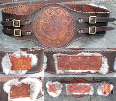 Boar Hero Belt by Archanejil on Deviant Art.  Made by me (Lorraine McKee) and posted by another pinner -- boost for the day!  :)