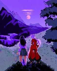 Inuyasha Fan Art, Kagome And Inuyasha, Kagome Higurashi, Purple Aesthetic, Aesthetic Anime, Geek Wallpaper, Manga Anime, Anime Art, Culture Art