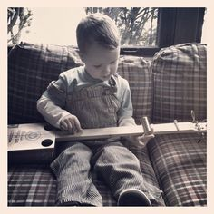My son's new cigar box guitar that we built together