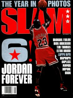 SLAM 28: Chicago Bull Michael Jordan appeared on the cover of the 28th issue of SLAM Magazine (1998).