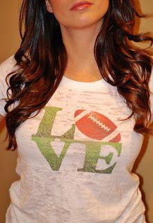 Perfect for the Football Lovin' Ladies!  #LadyNFLtip #NFL #Football #GameDayFashion