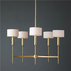 Pencil Arm Modern Chandelier from Shades of Light