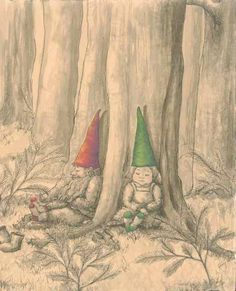 Items similar to Gnomes Napping on Etsy Gnomes Book, Yard Gnomes, Sleepy, Humanoid Creatures, Mushroom Art, Found Art, Christmas Gnome, Faeries, Beautiful Creatures