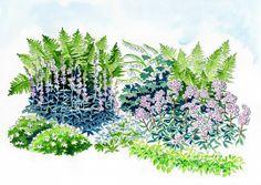 Istutussuunnitelma: romantikon perennapenkki | Meillä kotona Outdoor Balcony, Garden Planning, Garden Inspiration, Garden Ideas, Home And Garden, Backyard, Tapestry, Island, Plants