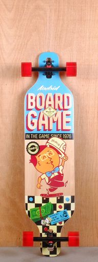 "The Madrid 39"" BoardGame Longboard is designed for carving, cruising, and freestyle."