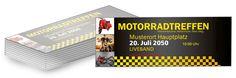 Werbung für deine Veranstaltung von #onlineprintxxl #motorradtreffen #eintritt
