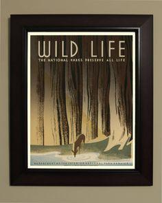 Wild leven nationale parken WPA Poster 3 door VintageUnitedStates