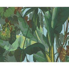 York Wallcoverings Dekora Natur 6 Naturally 33 x 21 Wallpaper Roll Vinyl Wallpaper, Jungle Wallpaper, Natur Wallpaper, Peelable Wallpaper, Tropical Wallpaper, Wallpaper Paste, Tree Wallpaper, Wallpaper Roll, Cheap Wallpaper