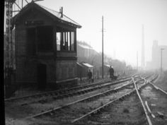 https://flic.kr/p/8PkSe4 | Whistle Down the Wind film still | This is Bacup engine shed signalbox looking north with Ross mill looming in the background. The erstwhile site of the shed bieng off to the right of the picture adjacent to the signal post. Here's a map of the area... www.flickr.com/photos/rpsmithbarney/2784956588/in/set-721...