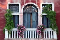 Balcones de Venecia.