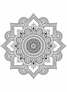 – Colouring pages - Malvorlagen Mandala Mandala Art Lesson, Mandala Doodle, Mandala Drawing, Doodle Art, Doodle Books, Adult Coloring Book Pages, Mandala Coloring Pages, Colouring Pages, Coloring Books