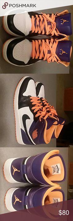 Nike Air Jordan Barely worn sneakers, Phoenix Suns colors Nike Shoes Athletic Shoes
