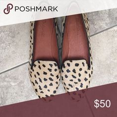 Madewell leopard print flats Great condition, barely worn. Super cute for work, with skinny jeans, dresses, etc.! Madewell Shoes Flats & Loafers