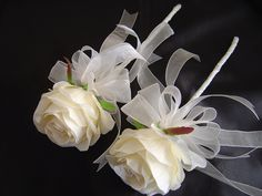 2 x ivory rose wands for bridesmaids by I Never Thought Of That, via Flickr