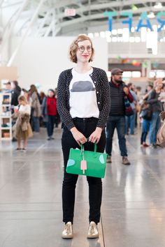 27 Brilliant Outfits From The World's Chicest Craft Fair #refinery29  http://www.refinery29.com/2014/12/78950/west-coast-craft-fair-style#slide-24  And...sames goes for Welcome Companions designer Laurel Consuelo Broughton's style. She poses for us in a Welcome Companions shirt, APC sweater, Acne jeans, and Common Projects sneakers. ...