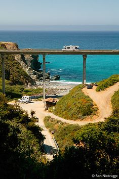Limekiln State Park Campground, Rocky Creek Bridge, Big Sur Coast, Pacific Coast Highway 1, California by Ron Niebrugge