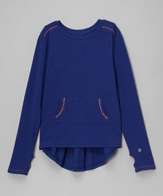 Love this Navy Pocket Athletic Hi-Low Top - Girls on #zulily! #zulilyfinds
