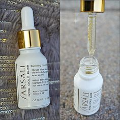 Farsali rose gold elixir- use as primer to foundation to create a glow