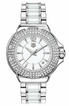 TAG Heuer 'Formula 1' Ceramic Diamond Watch available at #Nordstrom... This will be my 40th birthday gift!