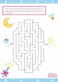 Sweet Dreams Lottie doll maze game for kids #free #printables Download at www.lottie.com/create/