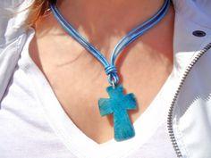 Colgante Montecristo. Agata azul- Piedras Naturales - reberesgems.com