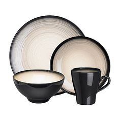 Rocha.John Rocha Dark grey 'Shade' sixteen piece dinner set- at Debenhams.com