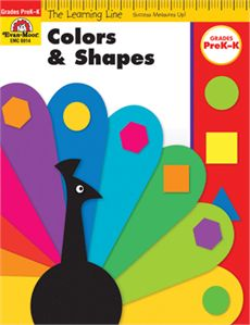 Learning Line: Colors and Shapes, Grades PreK-K - Activity Book: Evan-Moor.com