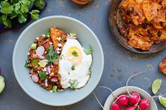 Sun Basket: Chipotle chilaquiles with black beans