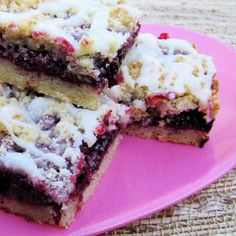 Blackberrry Shortbread bars ....they are amazing!!! I ended up using more blackberries then it called for and less powdered sugar and they were perfect!