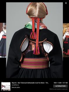 Bilderesultat for beltestakk Costumes Around The World, Folk Costume, Scandinavian Style, Traditional Outfits, Norway, Lady, Clothes, Dresses, Pattern Ideas